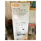 NIB HDX Heavy Duty 6 Shelf Storage Unit | Wire