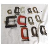 Large Box Lot Of Smaller C-Clamps