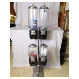 (4) Beaver Candy Machines On Stand