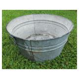 Galvanized Wash Tub In Good Condition.