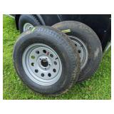 Pair Of Boat Trailer Wheels And Tires