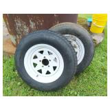 Pair of 15 in. Boat Trailer Wheels And Tires