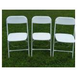 (3) Metal And Plastic Folding Chairs