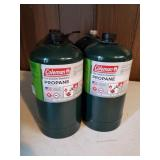 (4) Coleman 16 oz. Propane Camping Gas Cylinders