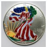 1999 Liberty Silver Dollar, Painted