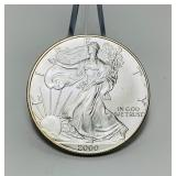 2000 Liberty 1oz Fine Silver One Dollar Coin