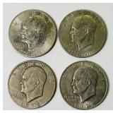 4 One Dollar Eisenhower Coins