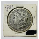 1881s Morgan Dollar Coin
