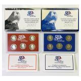 (2) 2007 US Mint 50 State Quarters Proof Sets