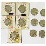 (11) Indian Head Nickels
