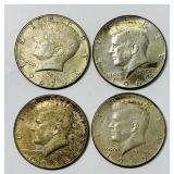 1965, 66, and (2) 1967 Kennedy Half Dollar Coins