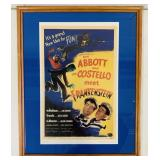 Framed Copy of Abbot and Costello Movie Poster