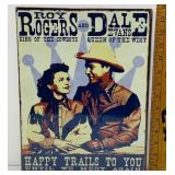 "SEALED Happy Trails Metal Sign 10.5"" x 14"""
