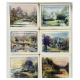 (6) Thomas Kinkade Collectors Plates with COA