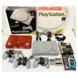 (2) Sony Play Station Consoles, Gray one WORKS
