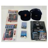 (2) Detroit Tiger Hats, Sports Card Sleeves