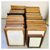 "85 Wood Picture Frames, mostly 12"" x 15"""