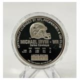 1 Troy Ounce .999 Fine Silver Michael Irvin Coin