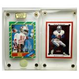 1986 Topps Jerry Rice #161, Mike McMahon 2002