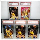 (5) Kobe Bryant 1996 Cards#52 x 3, #142,#281