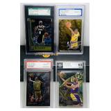 (4) Kolbe Bryant Graded Basketball Cards