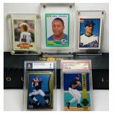 (5) Baseball/ Football Cards, A rod and Peyton