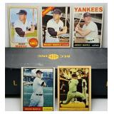 (5) Mickey Mantle Baseball Cards