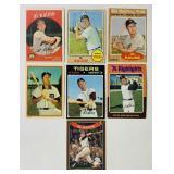 (7) Al Kaline Baseball Cards