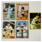 (5) Norm Cash Baseball Cards