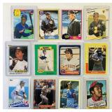 (12) Baseball Cards, Kirk Gibson, D Strawberry etc
