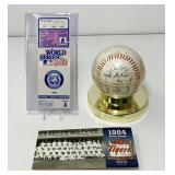 1984 Tigers World Series Ticket,Ball, Pin