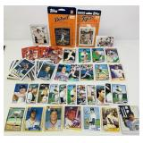 Lot of Detroit Tiger Baseball Cards, various yrs