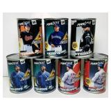 (7) SEALED 1998 Baseball Card Cans, 10 per Can