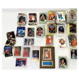 Lot of Basketball Cards, Joe Dumars Plaque
