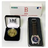 Boston Redsox 2004 Champions NEW Watch and Coin