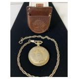 Sutton, Swiss Made Pocket Watch,Leather Case