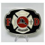 "Pewter Firefighter Belt Buckle 3"" x 2.25"""