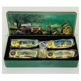 (4) Tractor Themed Knives, NEW in tin box