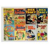 (8) Vintage Comic Books, Archie, Dick Tracy, Tim