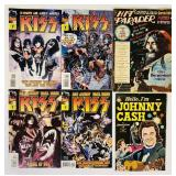 (6) Hit Parader, Johnny Cash, KISS #1-#4