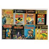 "(9) Giant 11""x14"" Comic Books"