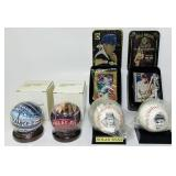 SEALED, Babe Ruth Baseball and Metal Cards