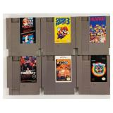 (6) NES Nintendo Game Cartridges