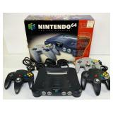 Nintendo 64 Game Console w/Box, 3 Handles