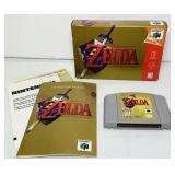 N64 ZELDA Ocarina of time Game w/Box and Manual