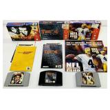 (3) N64 Games w/Boxes, Manuals, Turok2, NFL, 007