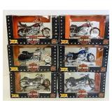 (6) Harley Davidson Scaled Replicas