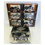 (7) Harley Davidson 1:18 Scale Replicas