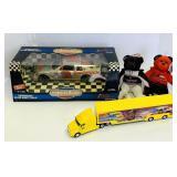 Dale Earnhardt 1/18 scale NASCAR, Hauler, 2 bears