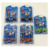 Set of 5 SEALED Disney NASCAR Cars